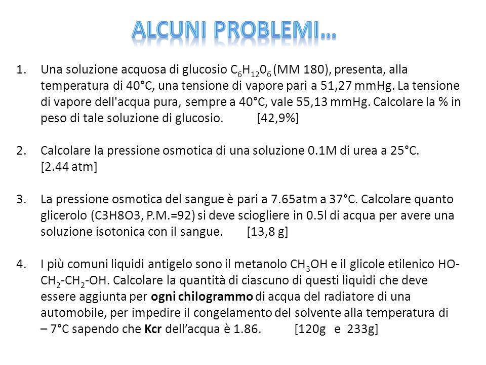 Alcuni problemi…