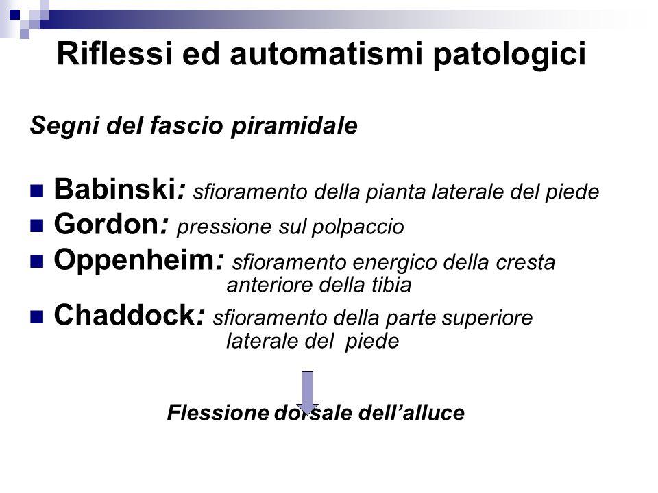 Riflessi ed automatismi patologici