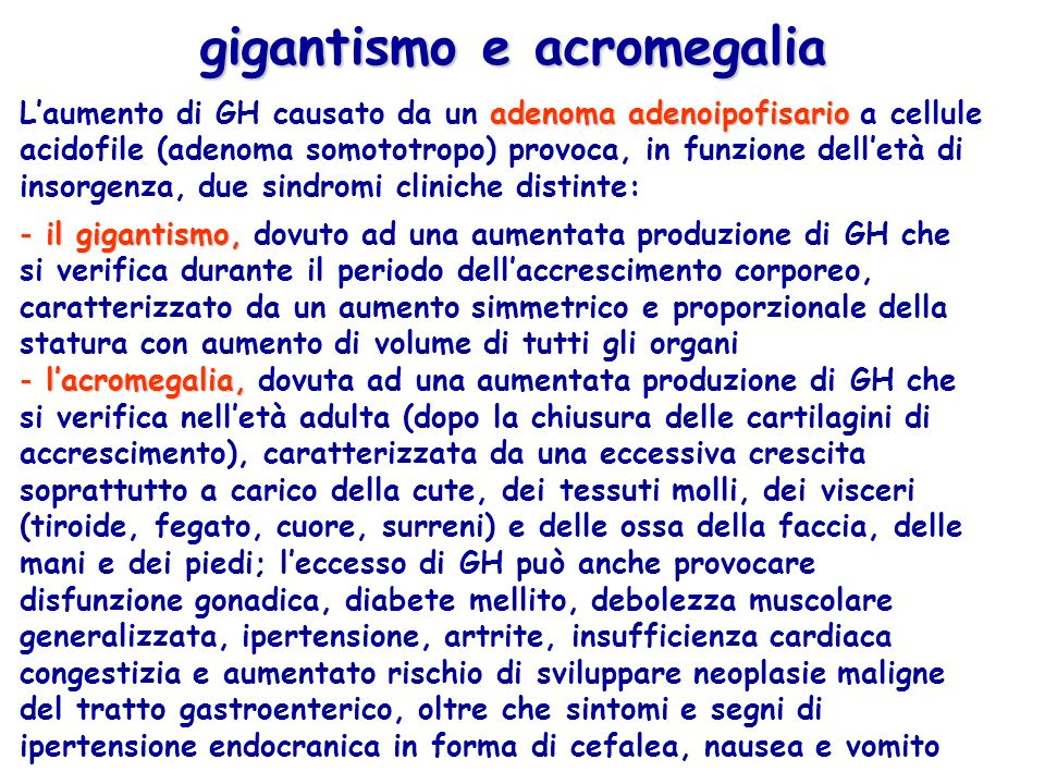 gigantismo e acromegalia