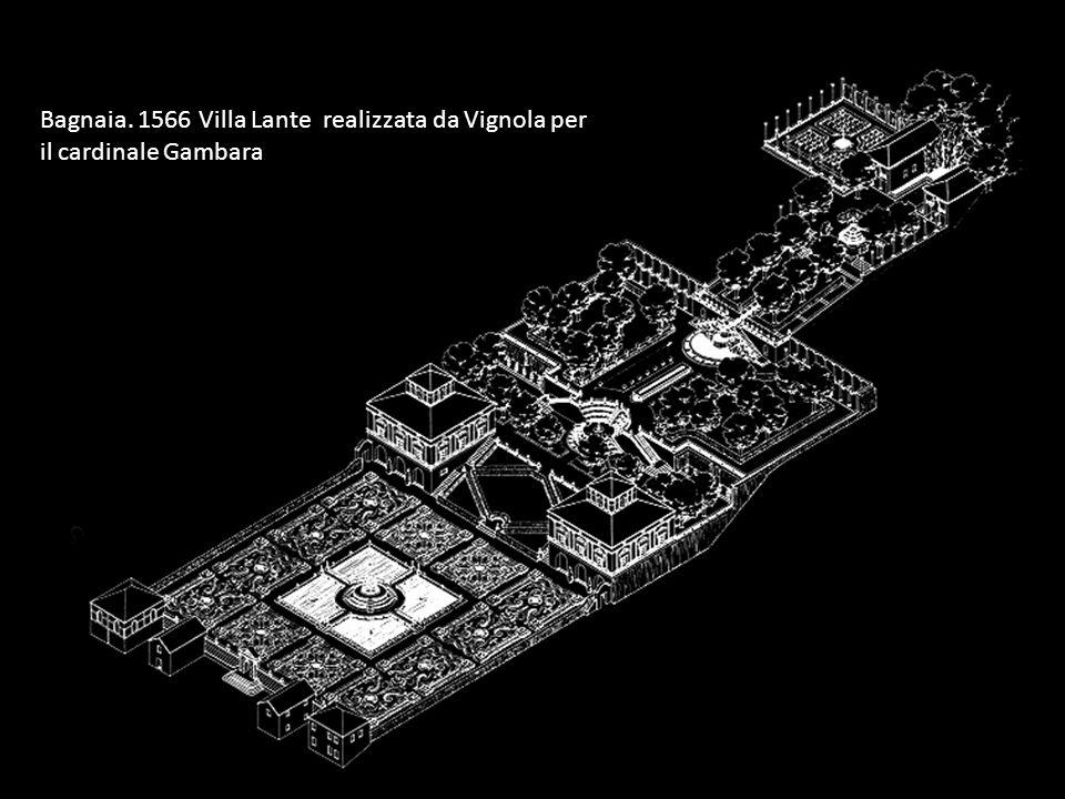 Bagnaia. 1566 Villa Lante realizzata da Vignola per il cardinale Gambara