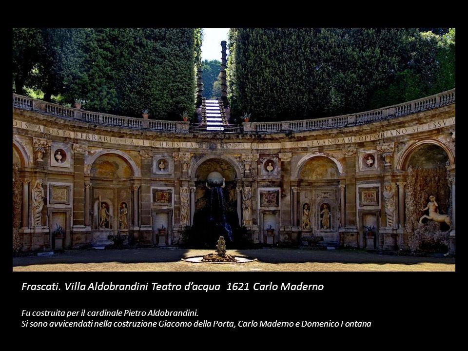 Frascati. Villa Aldobrandini Teatro d'acqua 1621 Carlo Maderno