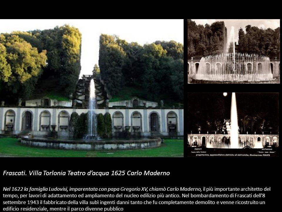 Frascati. Villa Torlonia Teatro d'acqua 1625 Carlo Maderno