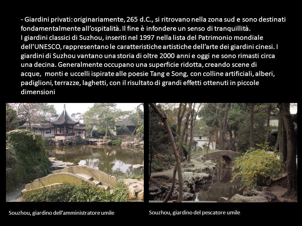 Giardini privati: originariamente, 265 d. C