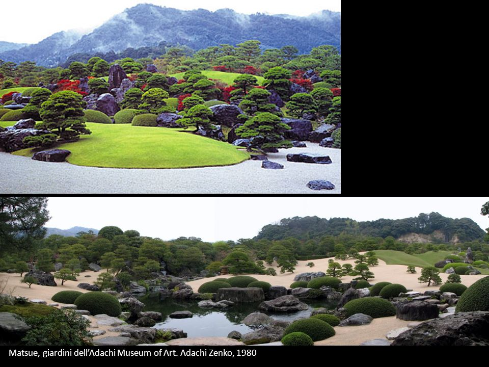 Matsue, giardini dell'Adachi Museum of Art. Adachi Zenko, 1980