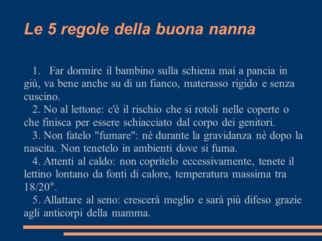 Le 5 regole della buona nanna