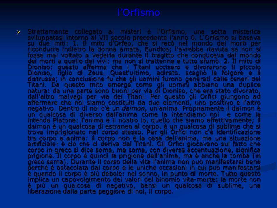 l'Orfismo
