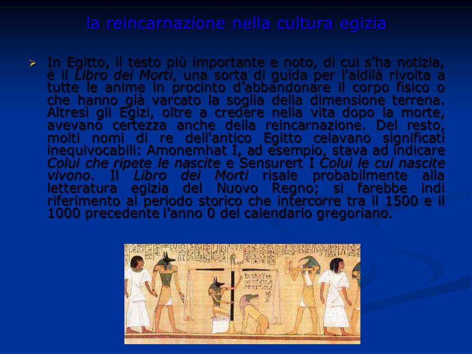 la reincarnazione nella cultura egizia