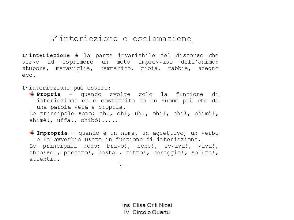 Ins. Elisa Oriti Niosi IV Circolo Quartu