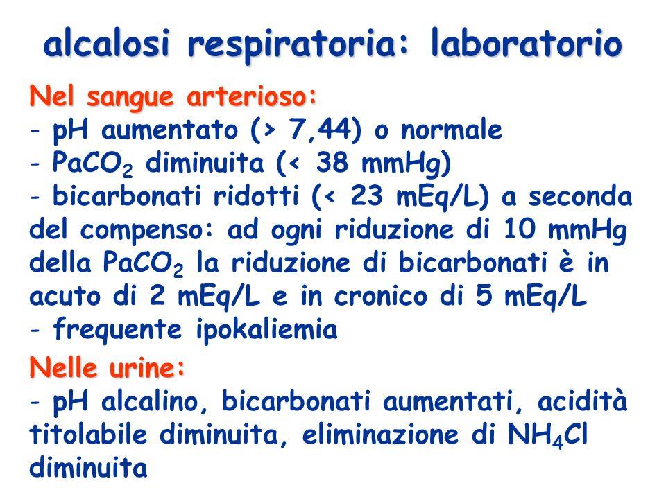 alcalosi respiratoria: laboratorio