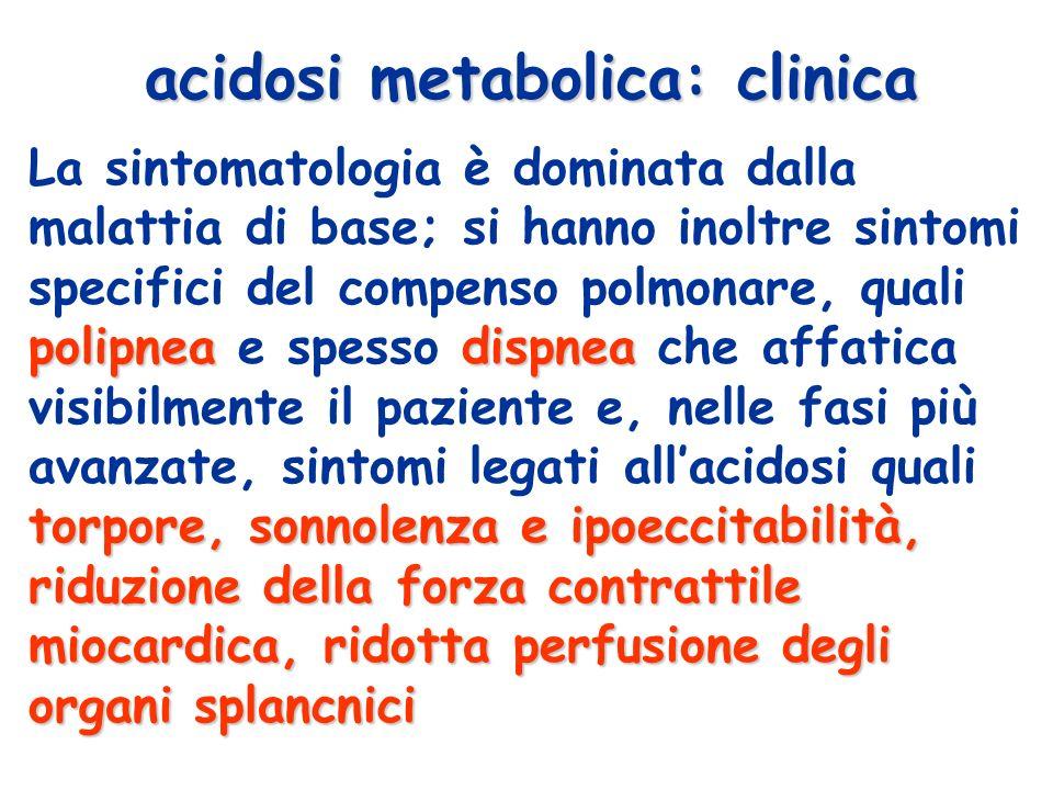 acidosi metabolica: clinica