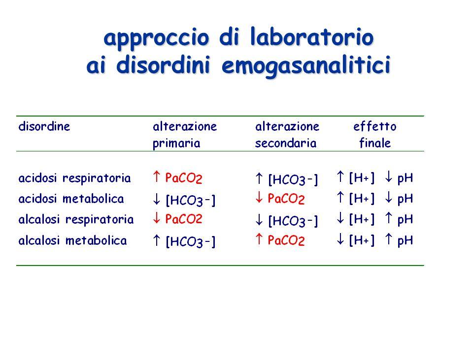 approccio di laboratorio ai disordini emogasanalitici