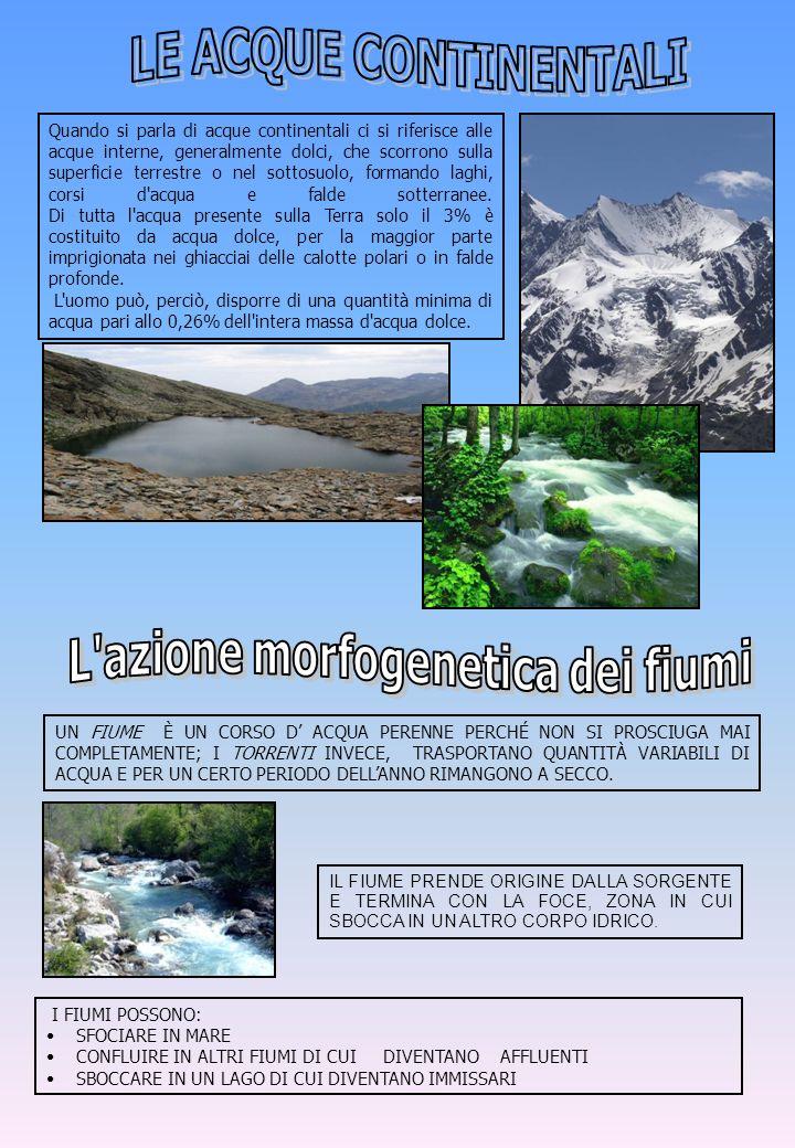L azione morfogenetica dei fiumi