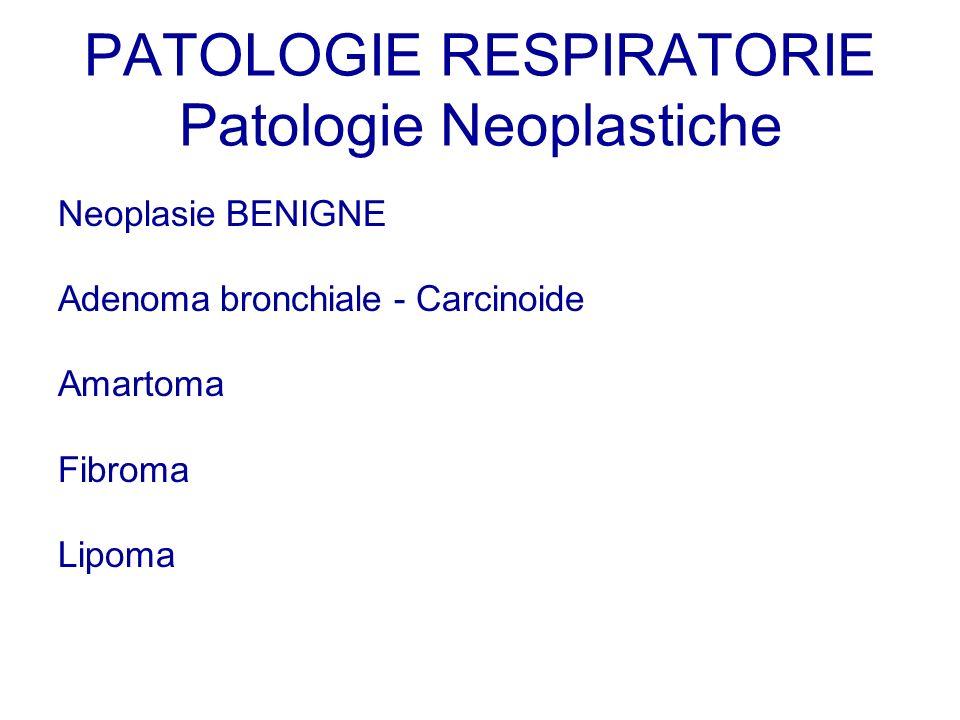 PATOLOGIE RESPIRATORIE Patologie Neoplastiche