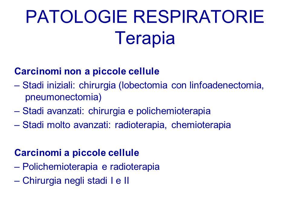 PATOLOGIE RESPIRATORIE Terapia