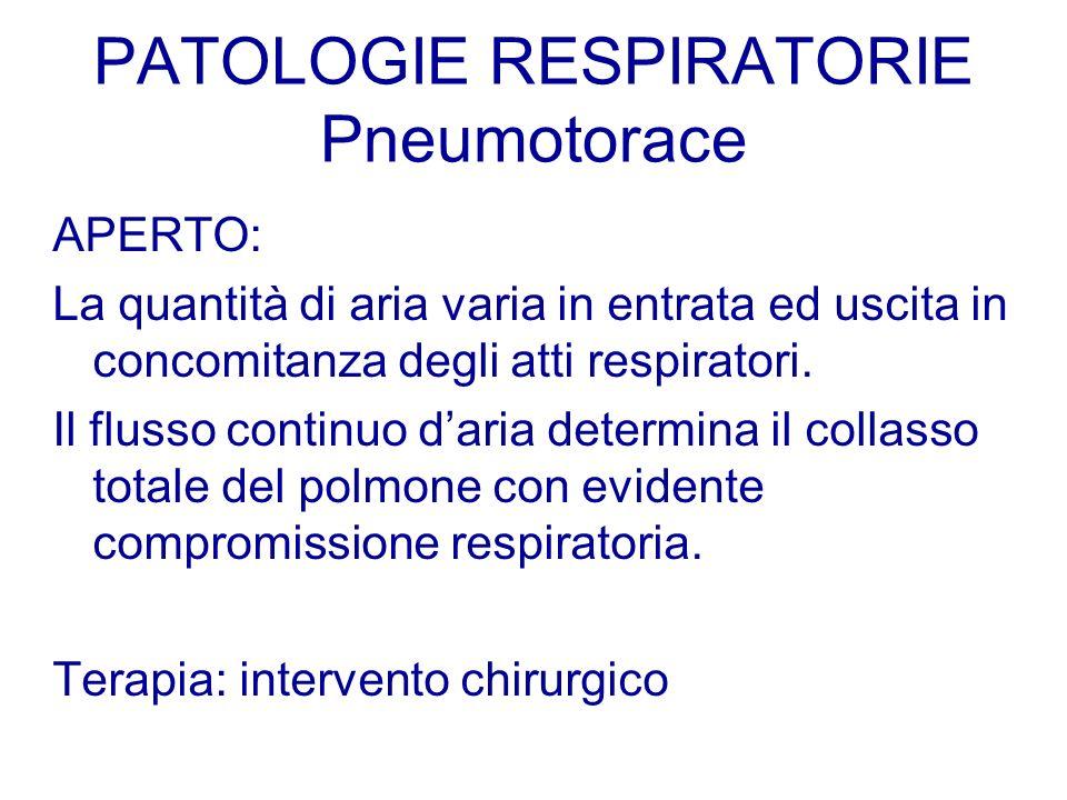 PATOLOGIE RESPIRATORIE Pneumotorace