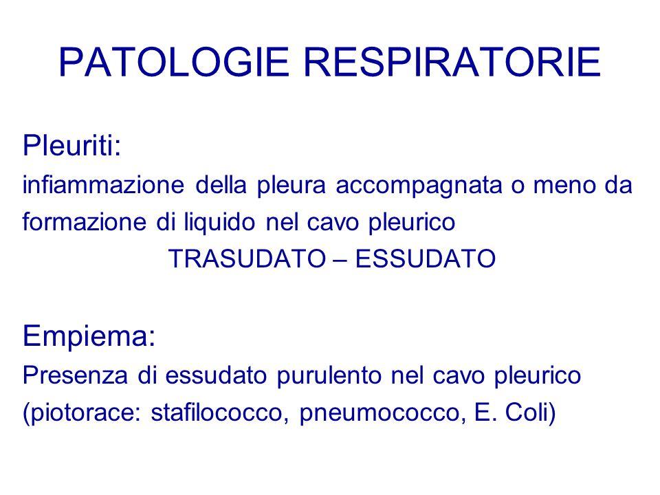 PATOLOGIE RESPIRATORIE