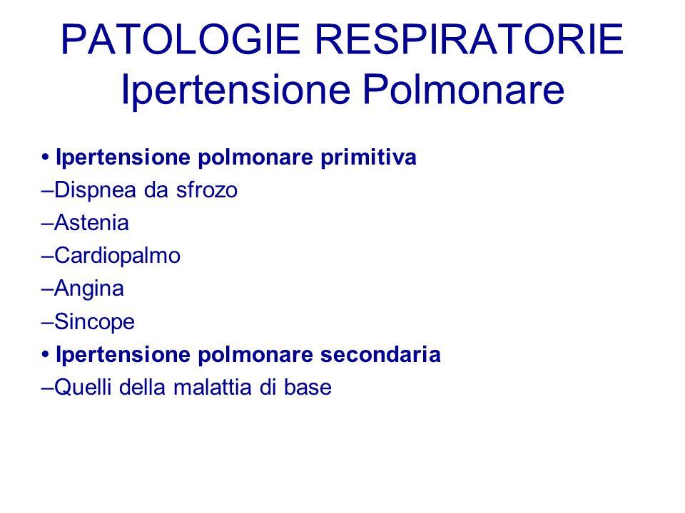 PATOLOGIE RESPIRATORIE Ipertensione Polmonare