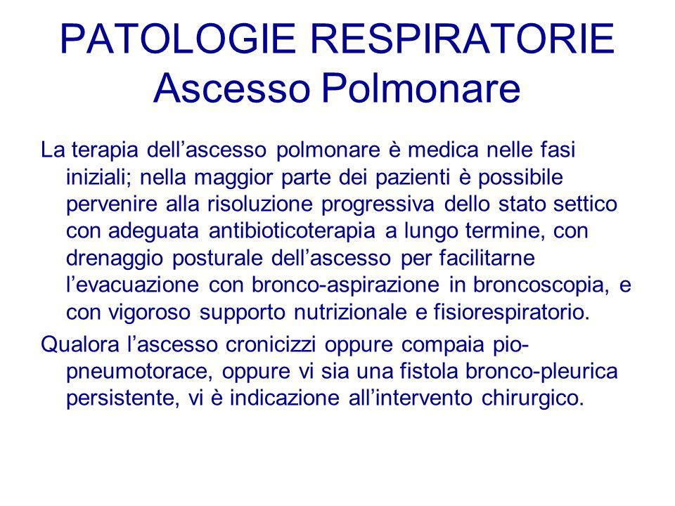 PATOLOGIE RESPIRATORIE Ascesso Polmonare
