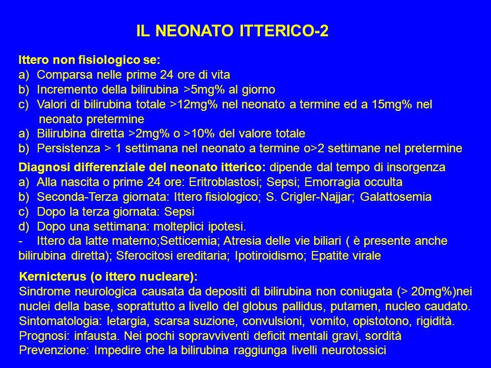 IL NEONATO ITTERICO-2 Ittero non fisiologico se: