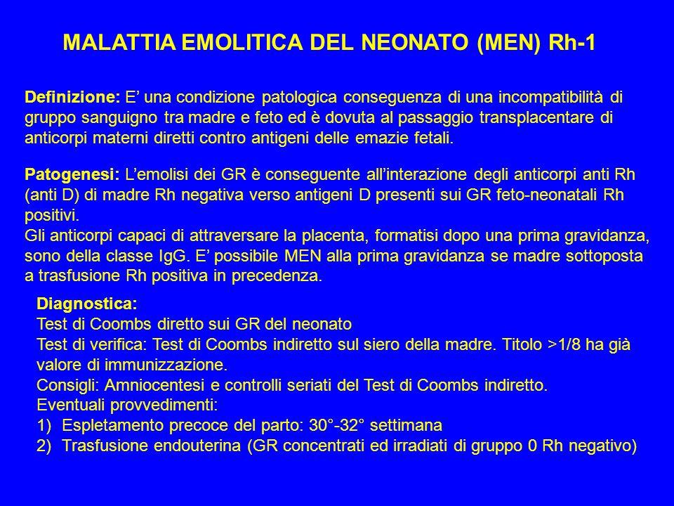MALATTIA EMOLITICA DEL NEONATO (MEN) Rh-1