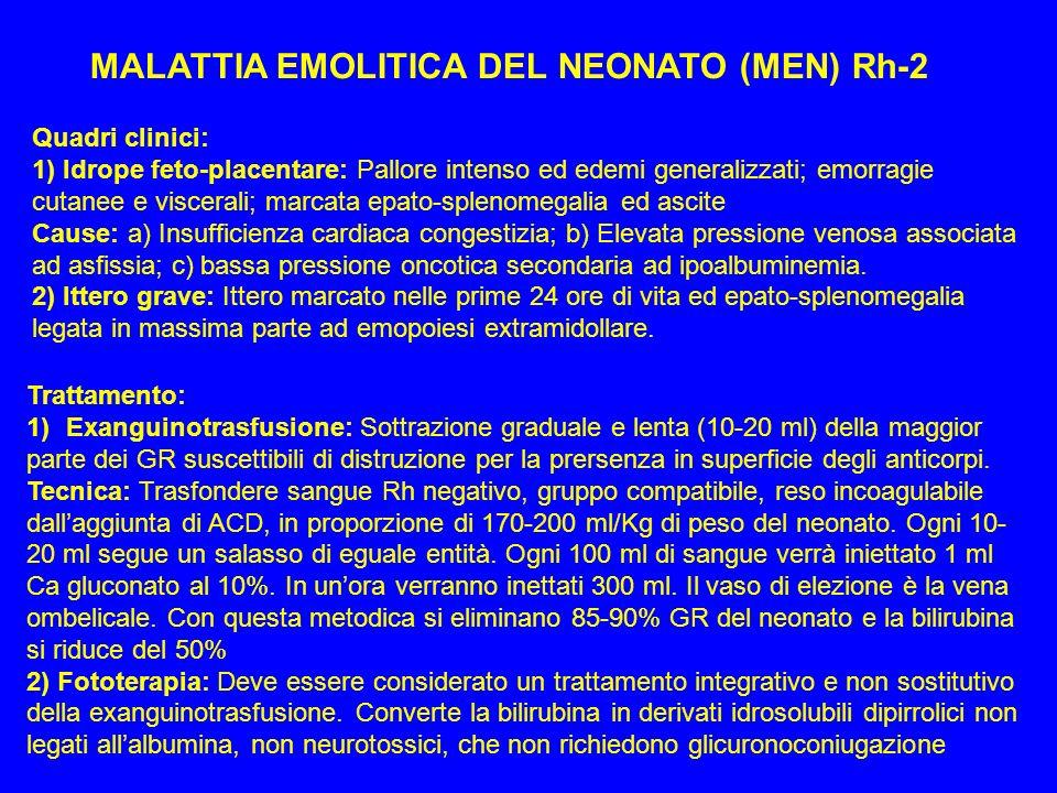 MALATTIA EMOLITICA DEL NEONATO (MEN) Rh-2