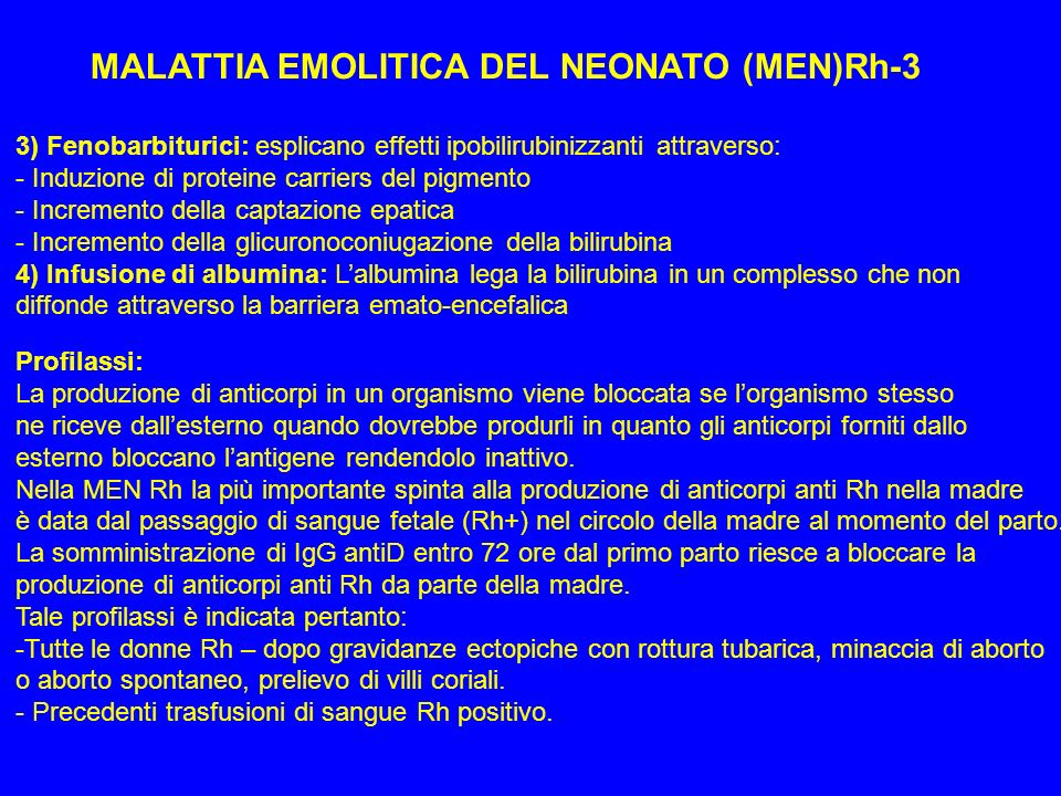 MALATTIA EMOLITICA DEL NEONATO (MEN)Rh-3
