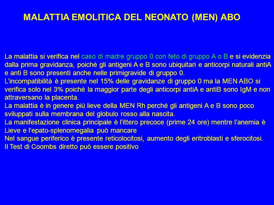 MALATTIA EMOLITICA DEL NEONATO (MEN) ABO
