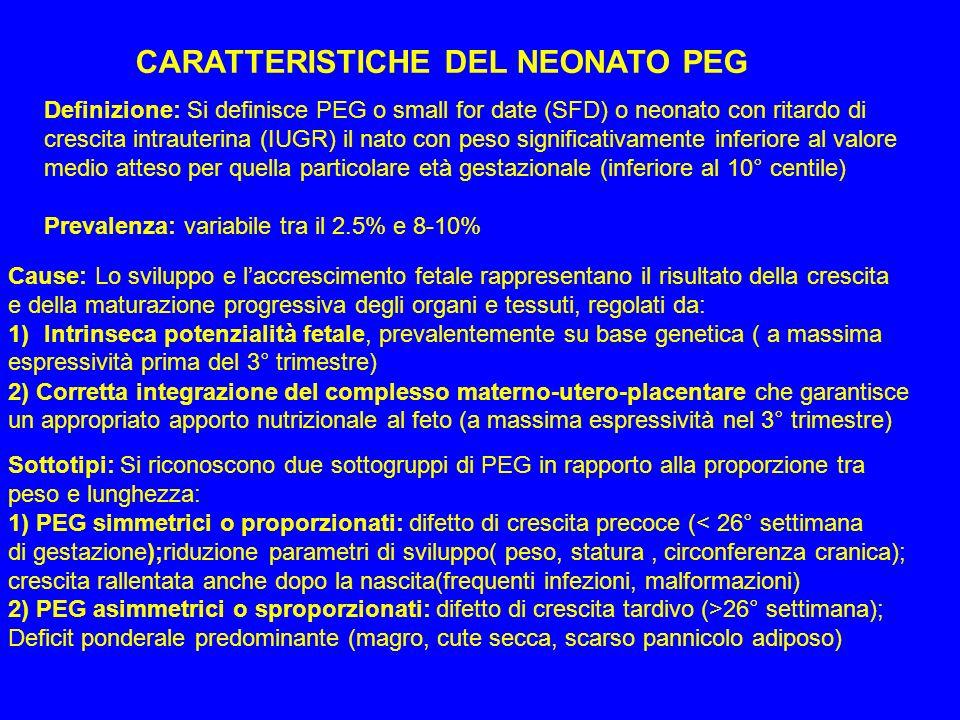 CARATTERISTICHE DEL NEONATO PEG
