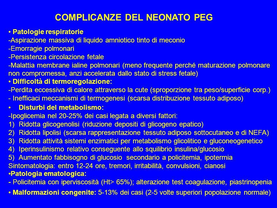 COMPLICANZE DEL NEONATO PEG