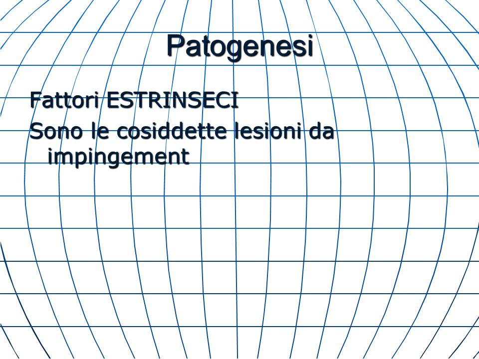 Patogenesi Fattori ESTRINSECI