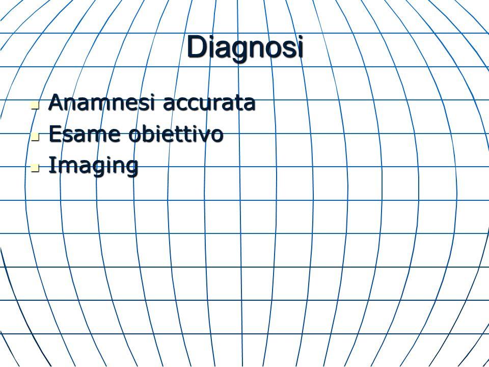 Diagnosi Anamnesi accurata Esame obiettivo Imaging
