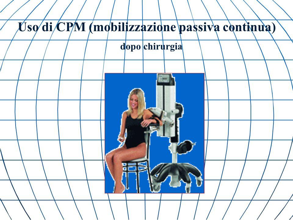 Uso di CPM (mobilizzazione passiva continua)