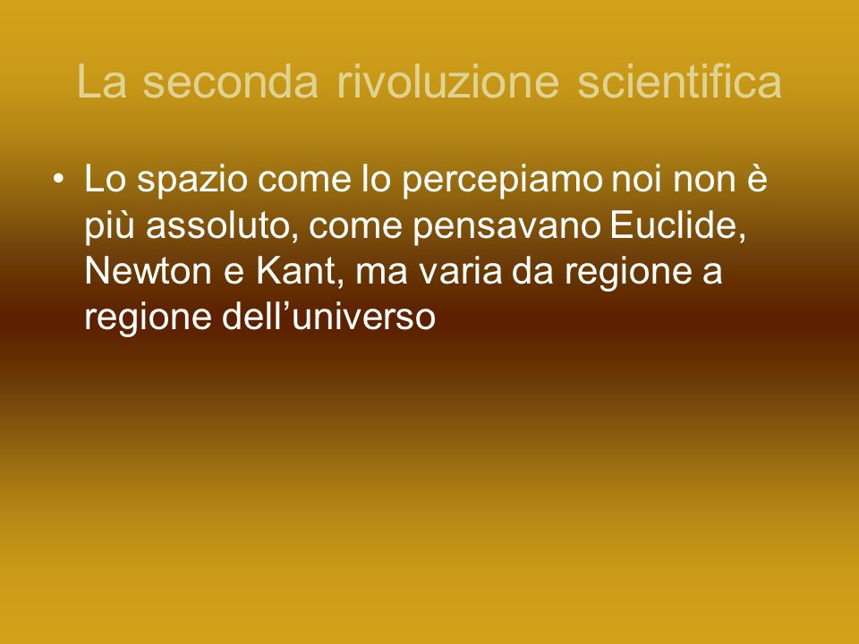 La seconda rivoluzione scientifica