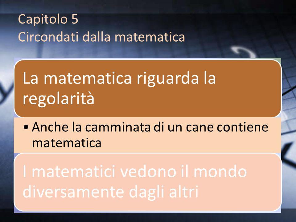 Capitolo 5 Circondati dalla matematica