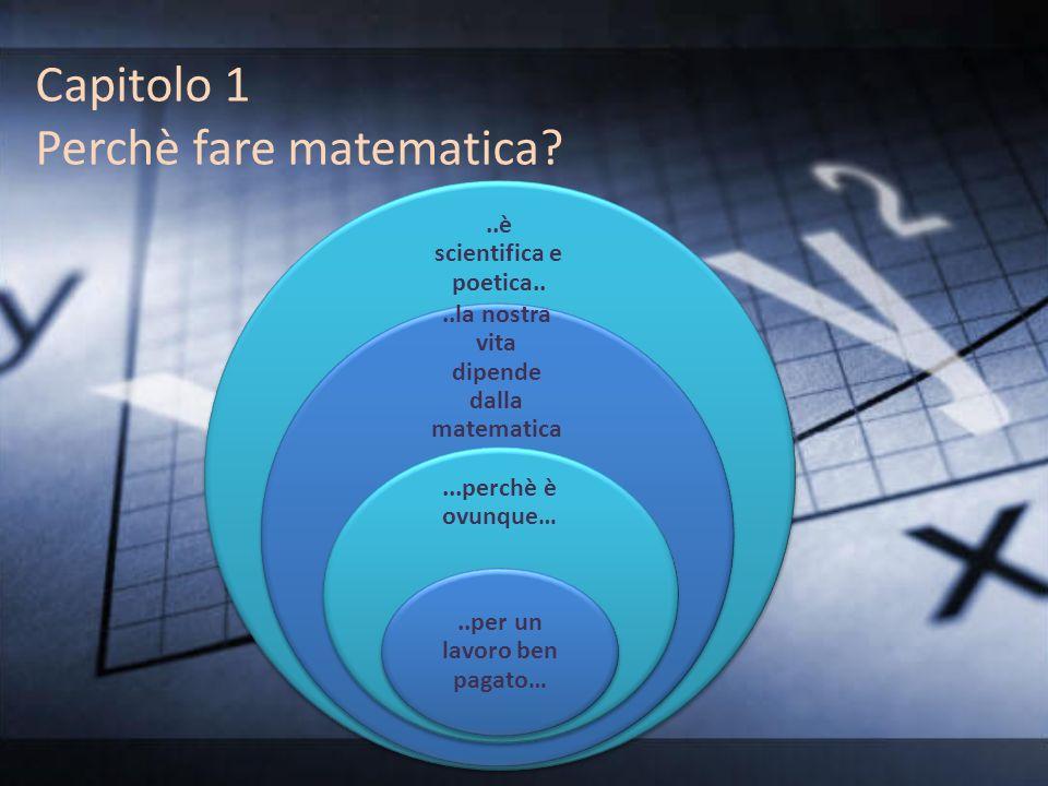 Capitolo 1 Perchè fare matematica