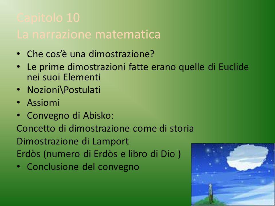 Capitolo 10 La narrazione matematica