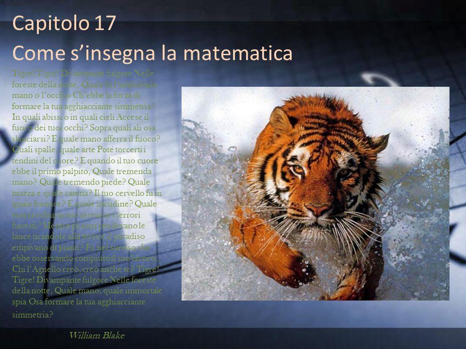 Capitolo 17 Come s'insegna la matematica
