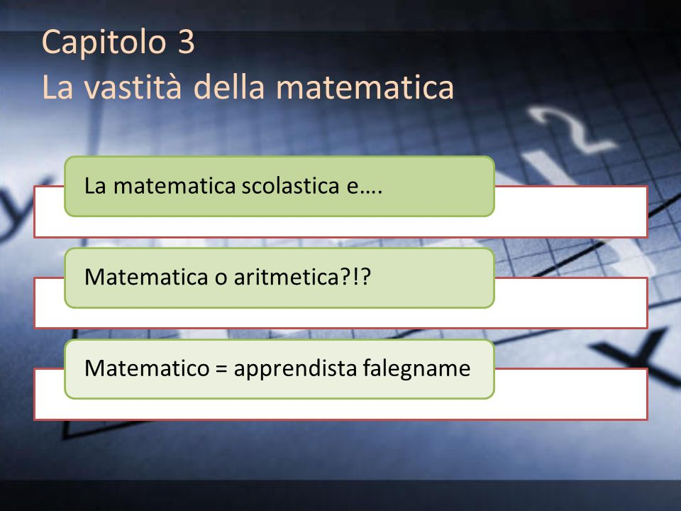 Capitolo 3 La vastità della matematica