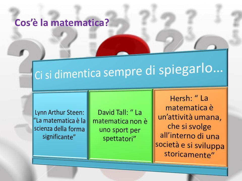 Cos'è la matematica Ci si dimentica sempre di spiegarlo…