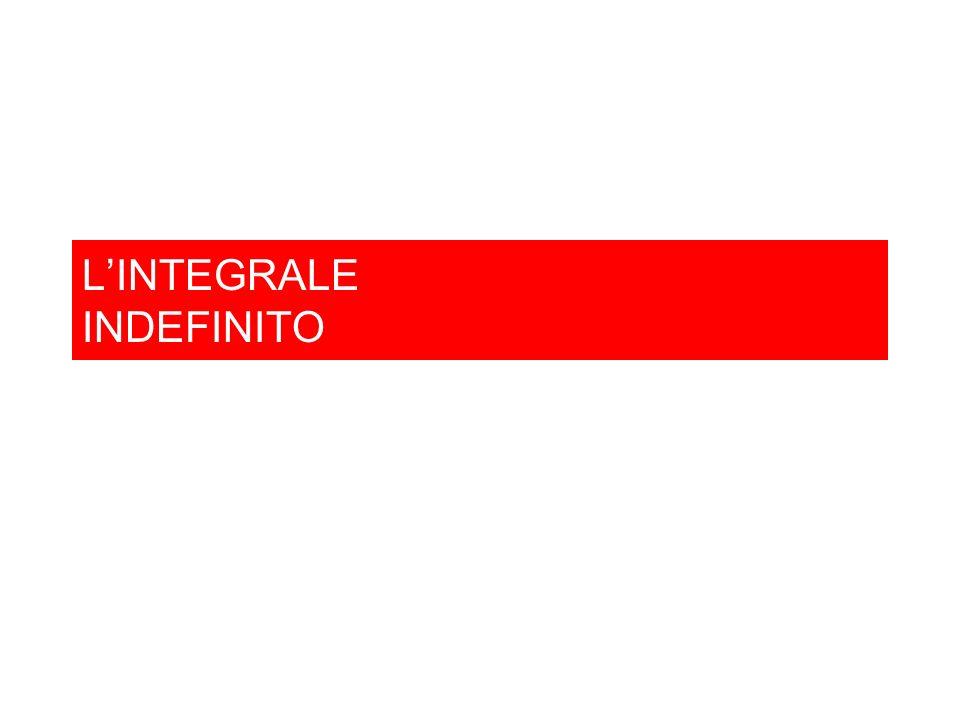 L'INTEGRALE INDEFINITO