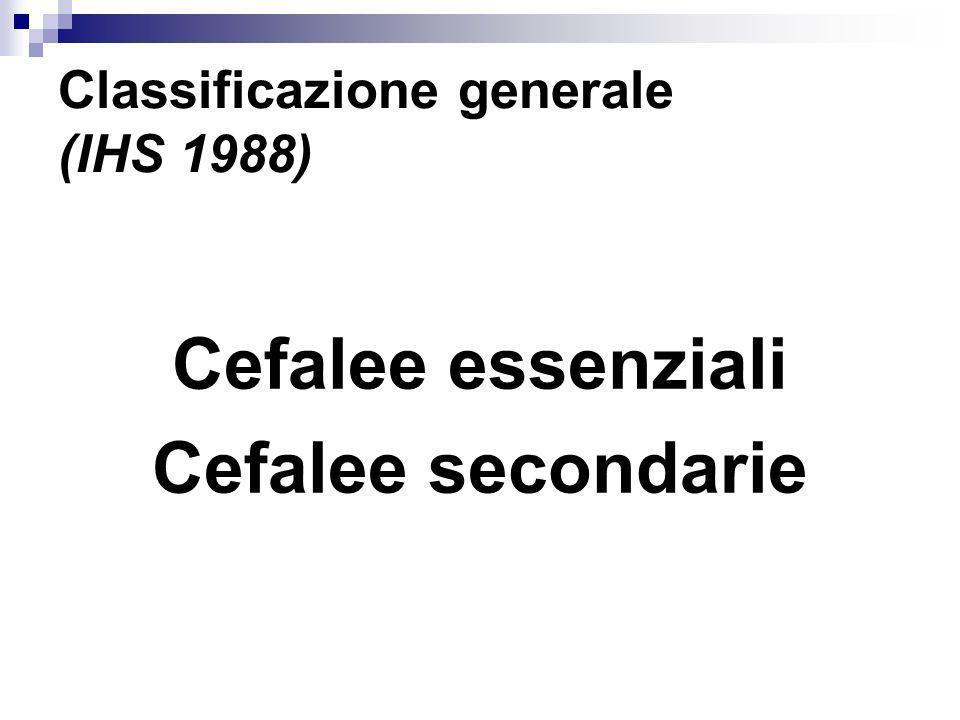 Classificazione generale (IHS 1988)