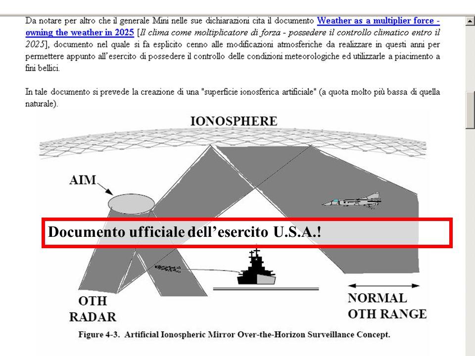 Documento ufficiale dell'esercito U.S.A.!