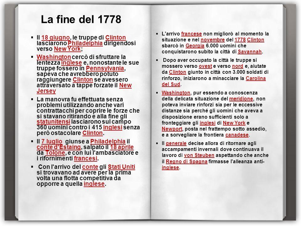 La fine del 1778
