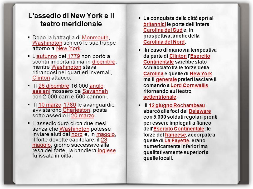 L assedio di New York e il teatro meridionale
