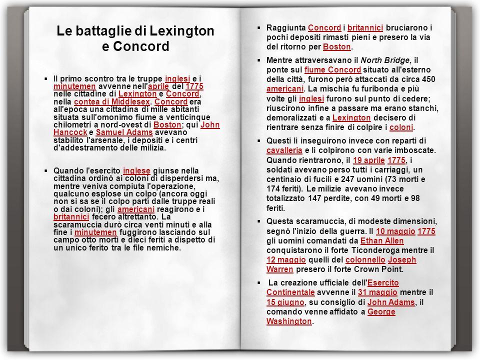 Le battaglie di Lexington e Concord