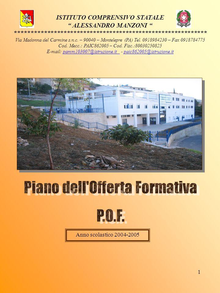 Piano dell Offerta Formativa P.O.F.