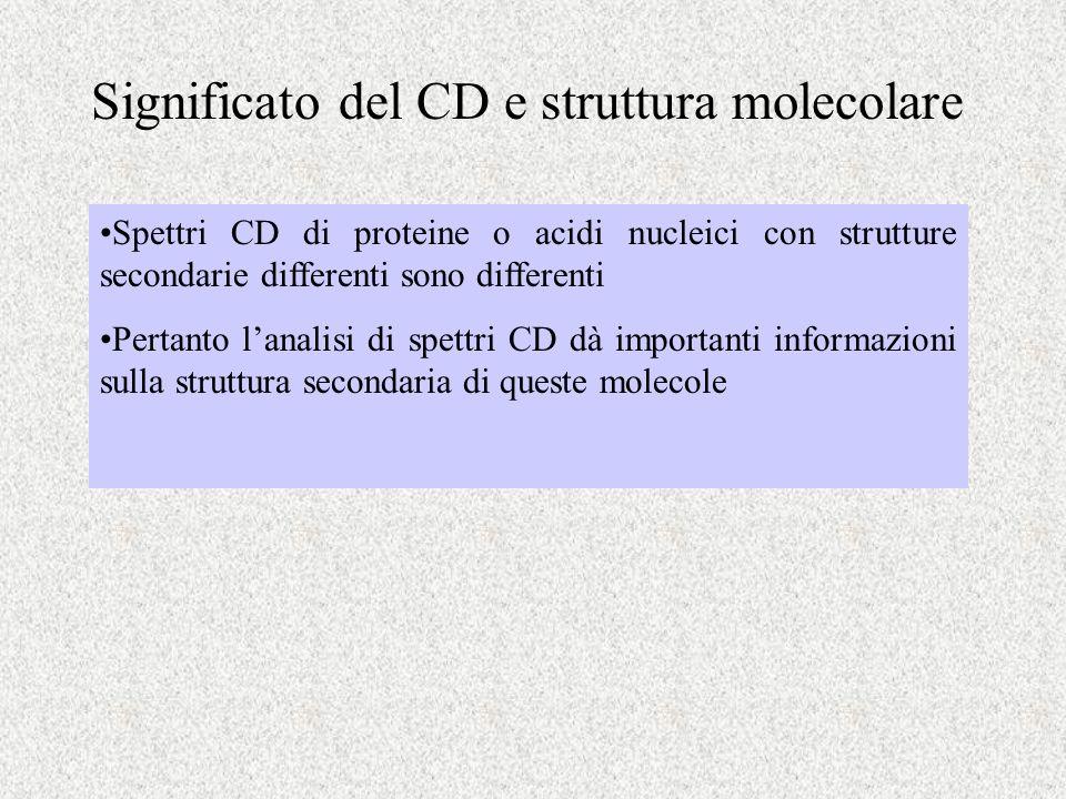 Significato del CD e struttura molecolare