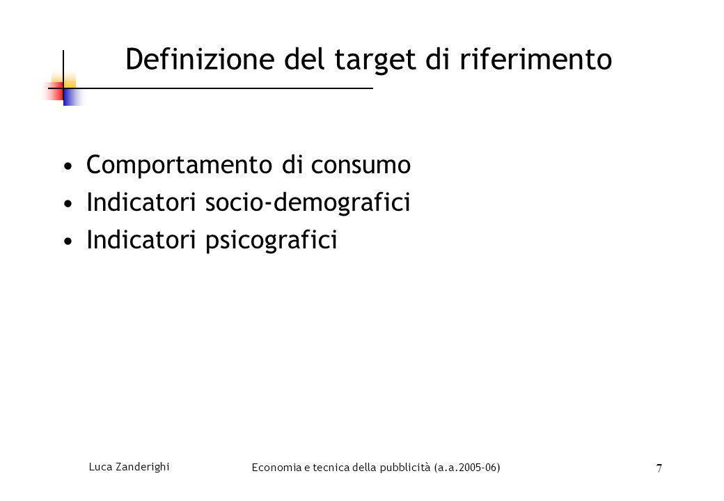 Definizione del target di riferimento