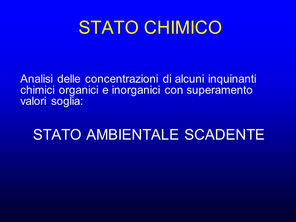 STATO AMBIENTALE SCADENTE