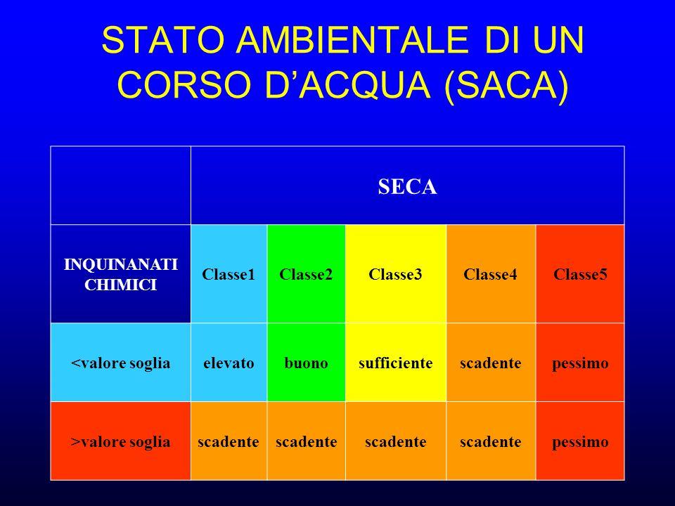 STATO AMBIENTALE DI UN CORSO D'ACQUA (SACA)